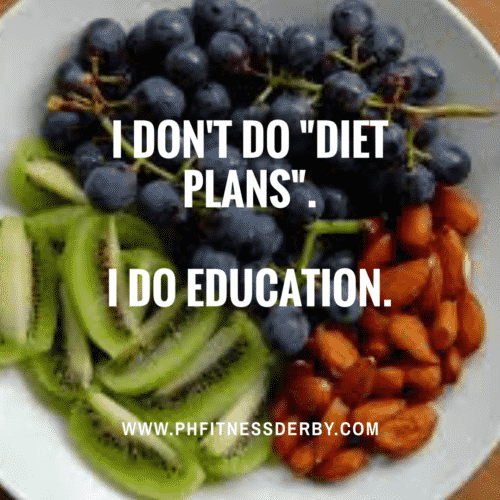 PHFitness nutritional support is an education not a diet plan